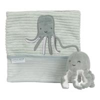 Stoffbuch mit Aktivitäten Ocean Mint Oktopus